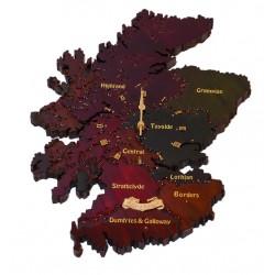 Scotland Multicolour Clock